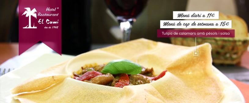 hotel fonda el Camí cocina de otoño cuina de tardor cambrils