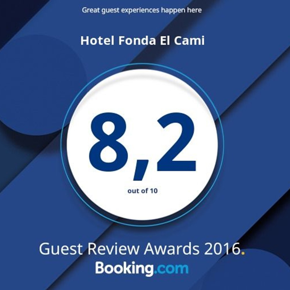 Guest Review Award 2016 hotel fonda el cami