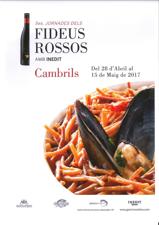 Fideus Rossos jornades 2017 cambrils
